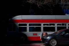 The smallest type is low breathing. (bhautik_joshi) Tags: streetphotography sfmuni muni bus peeking marketstreet sf sanfrancisco california unitedstates us