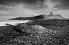 Greymare Rock and Dunstanburgh Castle (Julian Barker) Tags: greymare rock dunstanburgh castle northumberland north east england boulder beach black white monochrome julain barker sea ocean coast rocks canon dslr 5d mkii