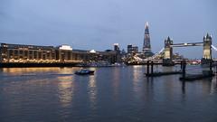 The Thames (tstzokov) Tags: the thames river london tower bridge shard butlers wharf boat night sky lights