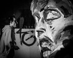 Face to face (MortenTellefsen) Tags: 2018 april face grafitti streetphoto street monochrome bw blackandwhite blackandwhiteonly bergen norway gatefoto gatekunst ansikt