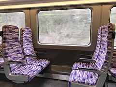 Seating experience - Class 345 interior (Aaron Ubasa) Tags: moquette design experience crossrail tflrail seat traininterior vehicle aventra bombardier class345 train inside interior seating seats fabrics material