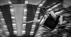 Come fly with me..... (Kevin Povenz Thanks for all the views and comments) Tags: 2017 july kevinpovenz westmichigan michigan ottawacountyfair ottawa ottawacounty fair fairrides chair spin canon7dmarkii sigma girl female arm rotate lights blackandwhite bw street streetphotography reach wristband