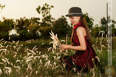 Play with hayon field (Hosting and Web Development) Tags: hay sunlight summer sunshine casual clothing hat hair eyes smile sit sky shoulder face farm arm body beautiful evening happy hand long flower grass tree one outdoor young femininity female flash nikon horizontal portrait