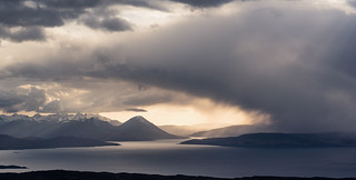 Storm approaching The Cuillin