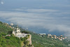 Foros Church Over the Clouds (Guide, driver and photographer in Moscow, Russia) Tags: crimea foros foroschurch orthodoxchurches redcliff resurrectionchurch russia krasnayaskala seascapes blacksea fog clouds churches cathedrals cliff mountains ru
