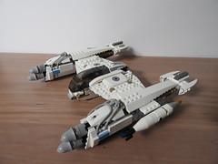 Magnaguard Starfighter - Republic (Johnny-boi) Tags: lego star wars clone magnaguard starfighter republic 7673 custom white great good