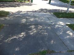 Partial Solar Eclipse Shadow (Brandon Blahnik) Tags: driveway sidewalk partial solar eclipse crescent shaped shadow