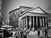 Pantheon (ngabor_gnagygbr) Tags: blackandwhite people architecture famousplace history europe italy urbanscene oldfashioned old classicalstyle cultures tourist city monochrome townsquare italianculture traveldestinations buildingexterior travel everypixel pantheon