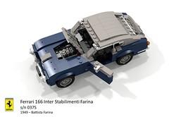 Ferrari 166 Inter - Stabilimenti Farina - 1949 s/n 037S (lego911) Tags: ferrari 166 inter stabilimenti farina pininfarina 1949 1940s classic italy italian berlinetta coupe v12 auto car moc model miniland lego lego911 ldd render cad povray sn037s 037s 037 sn