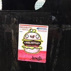 Barnslig (svennevenn) Tags: barnslig stickers burgers hamburgers gatekunst streetart bergen