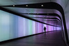 Walk this way (sarah_presh) Tags: kingscross tunnel london england uk lights walkway colours nikond750 person colourful