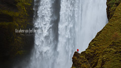 F E E L I N G (FredConcha) Tags: felling iceland waterfall alone landscape nature men skogafoss cliffs rocks fredconcha nikon d800 lee
