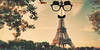 Vandals Attack Tourist Destinations (Jeff Burger) Tags: effeltower paris france jesuischarlie champdemars gustaveeiffel parody vandals pranks jokeglasses touristdestinations fuzzypuss fauxnose arrowthroughthehead jeffburger culturalicon stephensauvestre