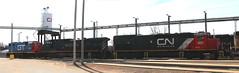 BLE 902, BCOL 4651, GTW 4927, Illinois, Stevens Point, 25 Mar 18 (kkaf) Tags: stevenspoint illinois tunnelmotor sd40t3 c449w ble bcol gp382 gtw