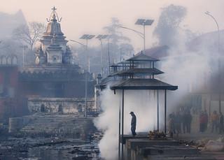smoking Pashupatinath