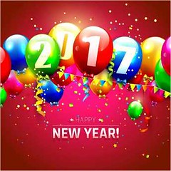 free vector Happy new Year 2017 greeting card with colorful balloons (cgvector) Tags: 2017 anniversary background balloons calendar card celebration concept confetti creative date decoration event explosion greeting happy helium holiday illustration invitation modern new number party red seasonal sylvester year