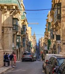St Paul Street, Valletta (Theo K) Tags: street valletta malta barrakka windows balconies architecture steep straight green streetphotography travel