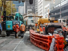 CBD & South East Light Rail - George and Bathurst Street - Update 31 March 2018 (1) (john cowper) Tags: cselr sydneylightrail georgestreet bathurststreet excavator excavations city transportfornsw tracklaying acconia infrastructure sydney newsouthwales