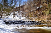 Spring Snow at the Creek II (Jay Janssen) Tags: spring snow creek limestione niagra escarpment trees rocks fonferek glen wisconsin waterfall
