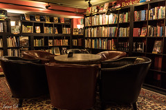 Common interests HBM (Irina1010) Tags: chairs table circle bookstore shelves books interior reading canon outstandingromanianphotographers