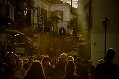 Crowd (jimiliop) Tags: crowd people walking afternoon walk light yellowish street nafplio greece shining effect hair sunlight sunrays oldtown atmospheric moody human traffic urban