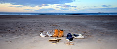 Whare are they ? (Andrew-Jackson) Tags: beach seascape footwear evening sand