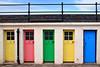 Twelve to Sixteen (PJ Swan) Tags: north berwick harbour colours doors lothian colourful
