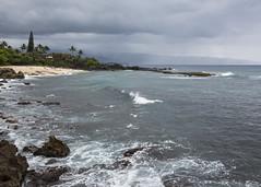 Waimea Bay (fantommst) Tags: lisaridings fantommst pupukea beach oahu hawaii hi usa island northshore ocean headlands rocky mountains storm stormy rain showers surf seascape landscape pacific waimea honolulu coast