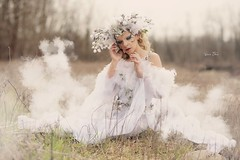 "TEATRONATURA ""Il Disgelo"" (valeriafoglia) Tags: model makeup magic art atmosphere colors creative composition capture creature stylist spirit soft white dress outfit fantasy fairy photo photography pretty ethereal fineart nature solstice"