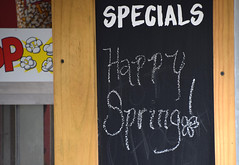 Pretty Special (MTSOfan) Tags: chalkboard happyspring springtime specials concession celebration
