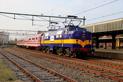 RXP 1251 Naarden-Bussum 14-04-2018 (Spoorhaar) Tags: rxp railexperts privatbahn müllertrein transport trein train eisenbahn spoorwegen naardenbussum 1200 1215 1251 locomotief locomotive balddwin heemaf werkspoor bahnhof station gare