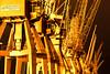 Rostige Riesen VI (Kai-Uwe Klauss) Tags: hafenmuseum hamburg industrie nacht kaiuweklauss krane kräne portalkrane industriemuseum industrielicht industriemusem gelb orange monochrome wirrwar ausschnitt kruppardelt schrott altmetall eisen hafenwirtschaft hafenlogistik cranes yellow