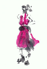 Hello Sunshine - Staring At The Sun [20180413] (rodneyvdb) Tags: art contemporary drawing dress expression expressionism fashion femme illustration ink model monotype painting paris red rouge soleil sun sunglasses sunshine vogue woman