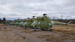 Line up of Belarus Air Force stored Mil.2 helicopters and Antonov An.2 planes at Vitebsk West Aerodrome named Kukovyachino, Belarus (sirgunho) Tags: belarus kukovyachino aircraft helicopter stored preserved soviet union air force aeroklub dosaaf novakukaviačyna line up former mil2 helicopters antonov an2 planes vitebsk west aerodrome named