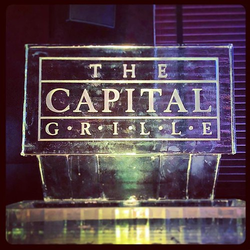 Looking for some tasty #seafood from @thecapitalgrille to fill this #icesculpture and our bellies! #fullspectrumice #logo #thinkoutsidetheblocks #brrriliant - Full Spectrum Ice Sculpture