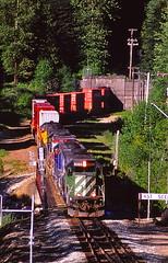 Scenic, Washington (UW1983) Tags: trains railroads bnsf scenicsub stacktrains cascadetunnel tunnels scenic washington