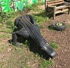 Tire alligator (Matt From London) Tags: alligator crocodile tire treads rubber spitalfields