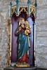 Bole (Notts), St Martin's church, statue (Jules & Jenny) Tags: bole nottinghamshire stmartinschurch statue madonna