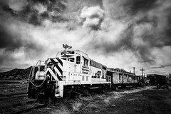 Trains of the Southwest (mcook1517) Tags: train trains trainstation oldwest clouds travel tourism wildwest monochrome blackandwhite transportation newmexico amtrak
