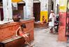 Suspended Time..Temps suspendu Varanasi (geolis06) Tags: geolis06 asia asie inde india uttarpradesh varanasi benares inde2017 olympus rue street olympuspenf olympusm1240mmf28 peinture painting ambience ambiance streetart color couleur colored colorful banaras