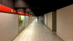 IMG_5330 To the endless space (Claudio e Lucia Images around the world) Tags: milano metro metropolitana underground redline red emptyspace nopeople piazzaduomo metroduomo iphone6plus