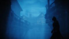 042 Evening Walk (vitvalecka Skyrim) Tags: skyrim specialedition game elderscrolls ingame fantasy blue evening dark cold fog silhouette shadow moody story