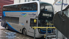 FIRST WEST OF ENGLAND BRISTOL AIRPORT A1 FLYER SCANIA E4OO MMC YP67 XDA BRISTOL BUS STATION 18032018 (MATT WILLIS VIDEO PRODUCTIONS) Tags: first west of england bristol airport a1 flyer scania e4oo mmc yp67 xda bus station 18032018