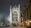 Bath Abbey at night, in the snow (Ian Redding) Tags: night england cathedral peaceful snowing city litup quiet abbey somerset snow lights unesco winter evening bathabbey beautiful high tower british nopeople worldheritage snowy bath weather uk white