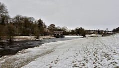Snow on the ground (42jph) Tags: snow march spring uk england yorkshire wharfedale nikon d7200 nature countryside landscape river wharfe hydropower hydro