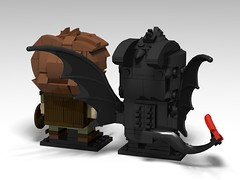 How To Train Your Dragon, BrickHeadz MOC.  Toothless and Hiccup (headzsets) Tags: lego legophotography legomoc legomocs moc legobrickheadz brickheadz afol howtotrainyourdragon toothless dragon hiccup
