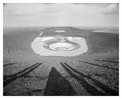 pit dump art (rcfed) Tags: hasselblad film mediumformat trix rodinal stand wideangle cloud bw industrial romantic