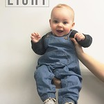 8 E I G H T 8 This smiley dumpling is just fine with sitting and watching his crazy brother bounce around the house. Annnnd he started waving which is probably the cutest thing I've seen. Ever. My heart bursts with love for this little boy. #vanceojp #mon thumbnail