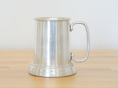 Metal Tankard (.godo) Tags: etsy vintage metal aluminum pewter glass beer stein mug cup renaissance faire fair historicalreenactment mancave boyfriend gift ale pint pub pirate prop costume silver tankard viking pitcher colonial mule steampunk