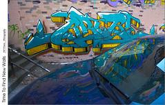 Time To Find New Walls (jwvraets) Tags: hamilton jamesstreetnorth northend tivolitheatre graffiti car reflections blue opensource rawtherapee gimp nikon d7100 nikkor1224mm